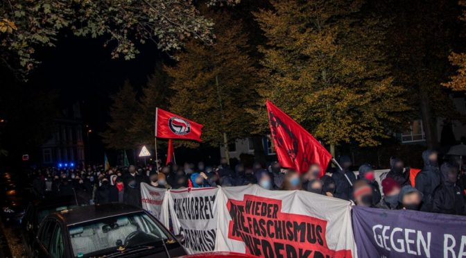 Antifaschistische Demonstration gegen Naziprovokationen in Braunschweig