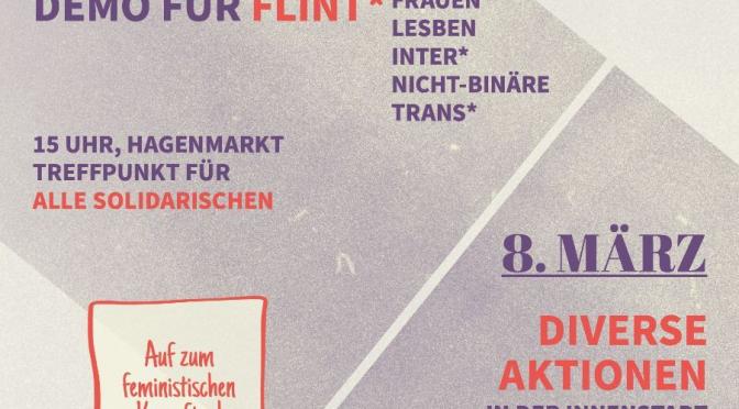 Heraus zum internationalen feministischen Kampftag! Kommt zur Demonstration am 6.3. in Braunschweig!