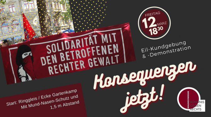 [UPDATE] Gemeinsam gegen Naziterror und seine Verharmlosung! Kommt zur Demonstration am 12.3. in Braunschweig!